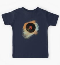 Vinyl Record Retro T-Shirt - Vinyl Records New Grunge Design Kids Clothes