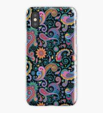 Pastel Blue Tones Vintage Orante Floral Paisley Pattern iPhone Case/Skin