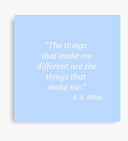 The things that make me different Canvas Print