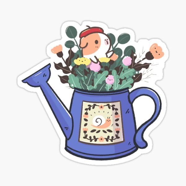 Bubu and Moonch, Bubu and kawaii flowers  Sticker
