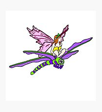 Dragonfly Riding Faerie Photographic Print