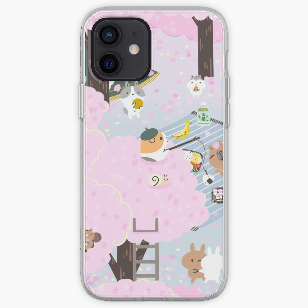Bubu and Moonch, Cherry Blossom  iPhone Case & Cover