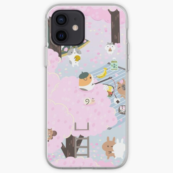 Bubu and Moonch, Cherry Blossom  iPhone Soft Case
