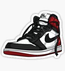 air jordan 1 black toe sticker