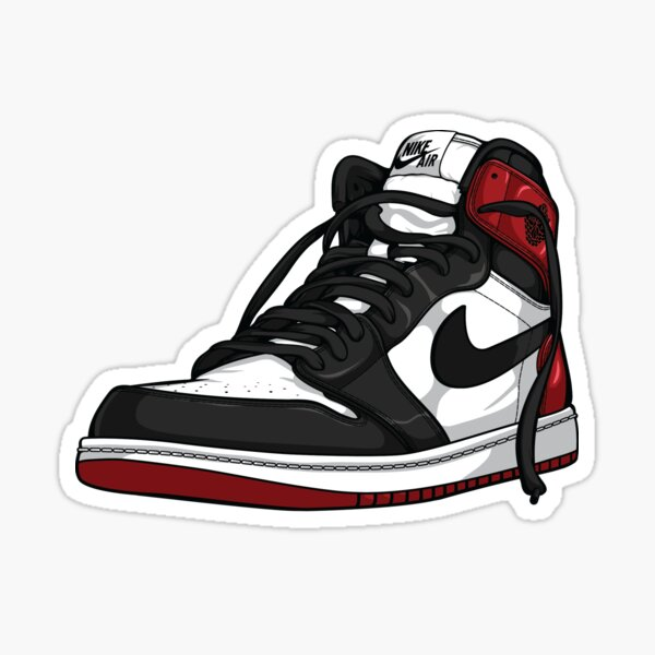 "Air Jordan 1 ""BLACK TOE"" Sticker"