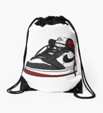 "Air Jordan 1 ""BLACK TOE"" Drawstring Bag"