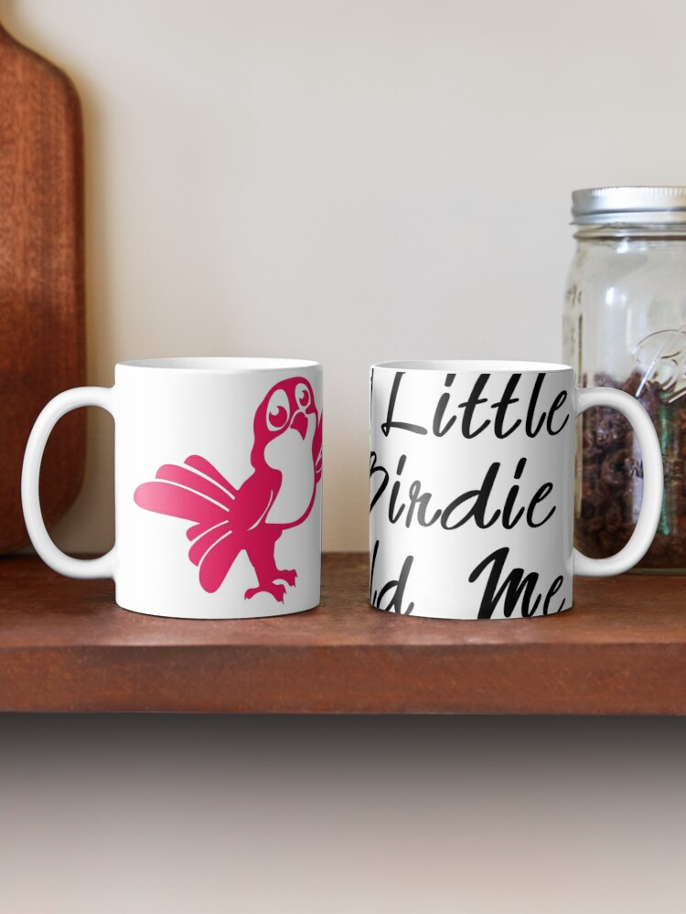 A Little Birdie Told Me Mug By Dimmo Redbubble