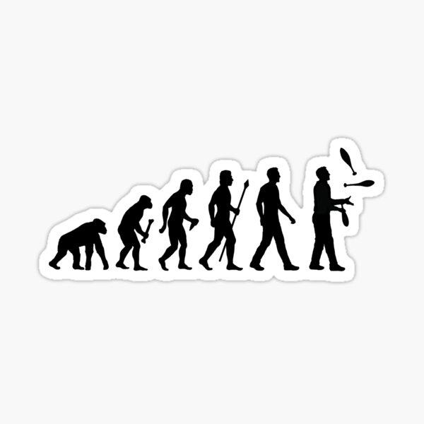 Funny Juggling Evolution Shirt Sticker