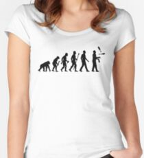 Funny Juggling Evolution Shirt Women's Fitted Scoop T-Shirt
