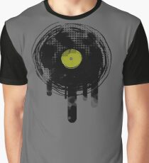 Green Melting Vinyl Records Vintage  Graphic T-Shirt