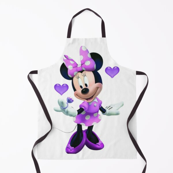 Purple Minnie with ring Apron
