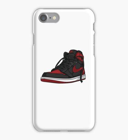 """Air Jordan 1 """"BRED"""" iPhone Case/Skin"""