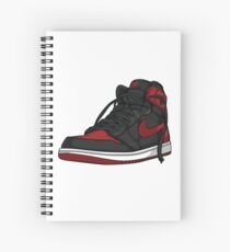 "Air Jordan 1 ""BRED"" Spiral Notebook"