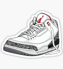 "Air Jordan 3 (III) ""WHITE & CEMENT"" Sticker"