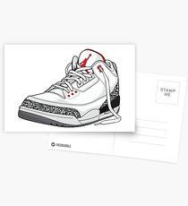 "Air Jordan 3 (III) ""WHITE & CEMENT"" Postcards"