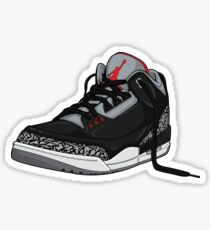 "Air Jordan 3 (III) ""BLACK & CEMENT"" Sticker"