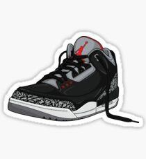 "the latest 053c8 209b8 Air Jordan 3 (III) ""BLACK   CEMENT"" Sticker"