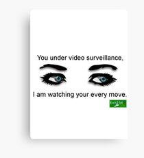 Video Surveillance Canvas Print