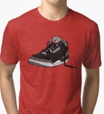 """Air Jordan 3 (III) """"BLACK & CEMENT"""" Tri-blend T-Shirt"""