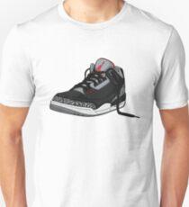 "Air Jordan 3 (III) ""BLACK & CEMENT"" Unisex T-Shirt"