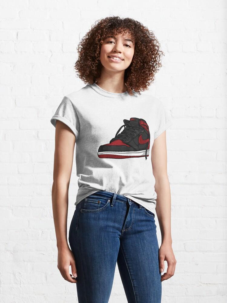 """Alternate view of Air Jordan 1 """"BRED"""" Classic T-Shirt"""
