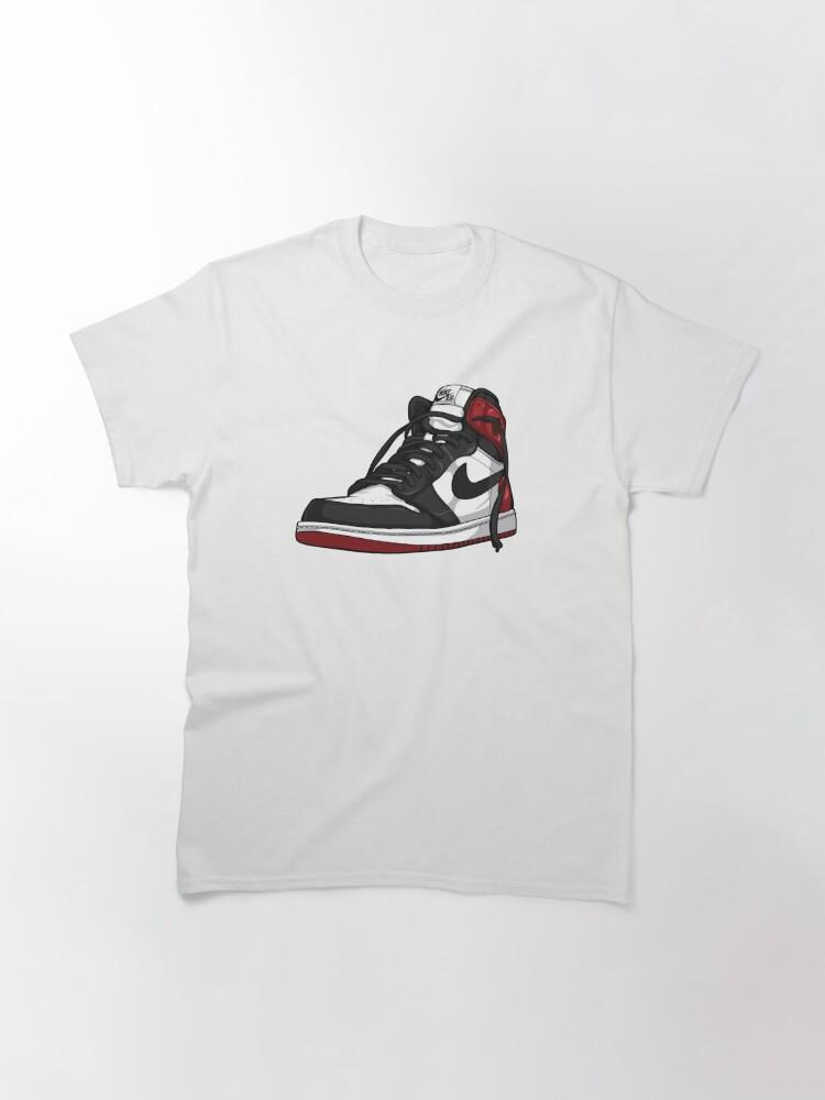 "Alternate view of Air Jordan 1 ""BLACK TOE"" Classic T-Shirt"
