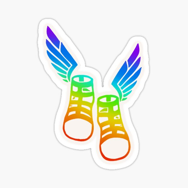 Episode 1: Hermes Winged Sandals (Rainbow) Sticker