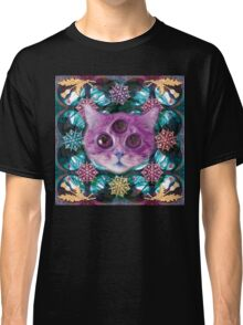 Psychic Cat sees into the dream land Classic T-Shirt