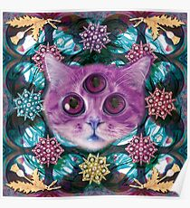 Psychic Cat sees into the dream land Poster