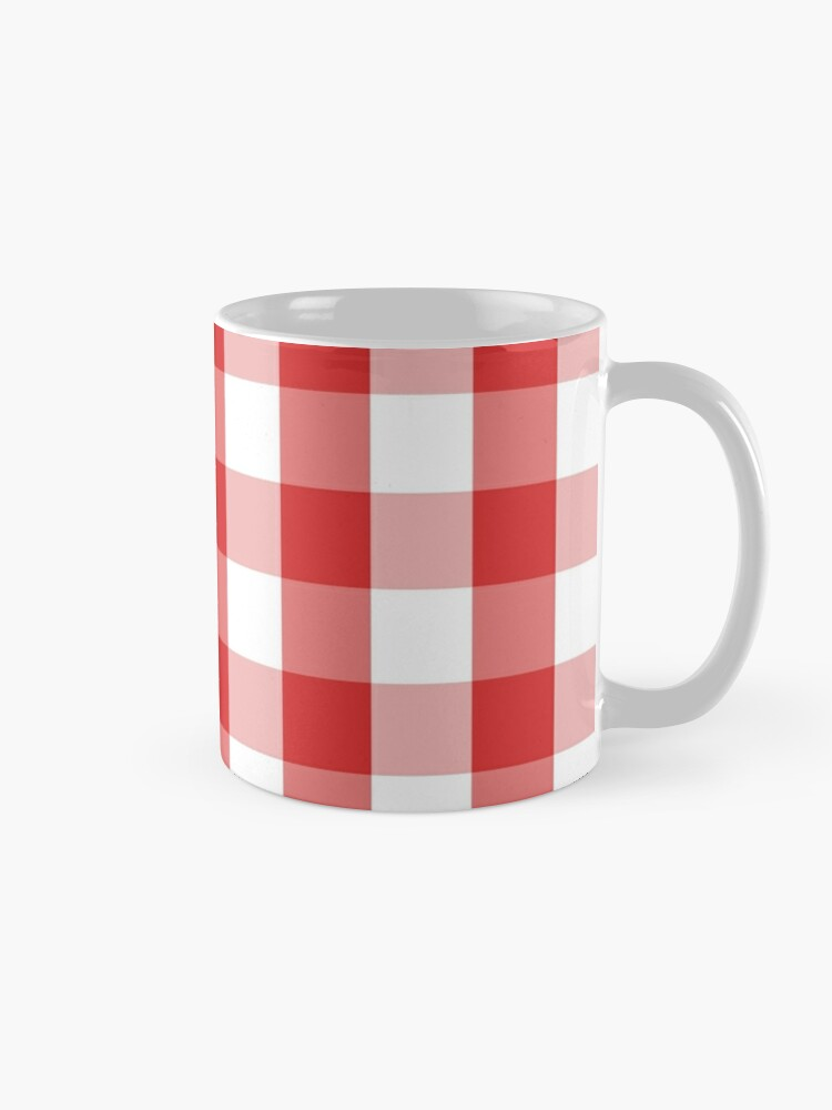 Alternate view of GINGHAM-RED Mug