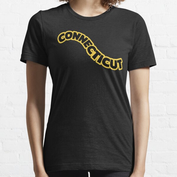 State Of Connecticut- Black, Yellow Essential T-Shirt