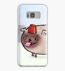Fez wearing pug Samsung Galaxy Case/Skin
