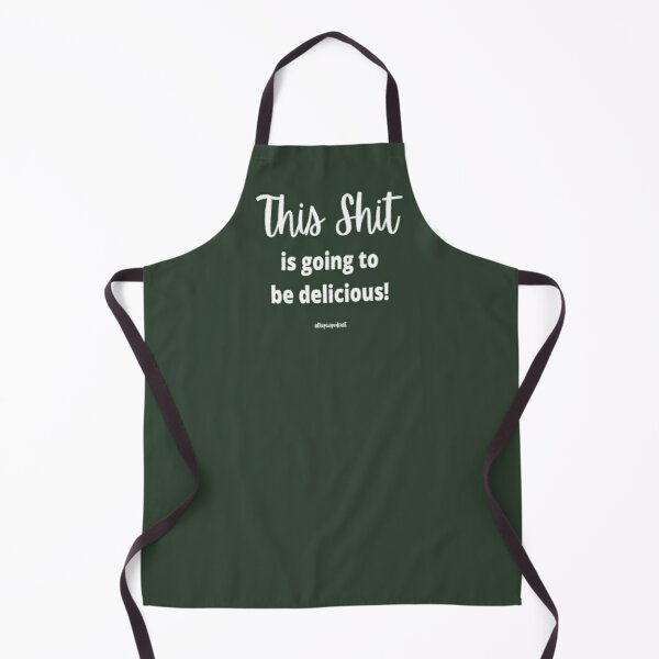 Green Apron Chef Baker Funny This Is Going To Be Delicious PCOS Apron