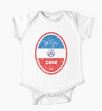 Football - Chile (Distressed) One Piece - Short Sleeve