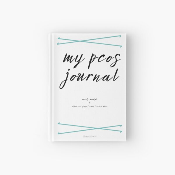 PCOS journal period cycle diary notebook Hardcover Journal