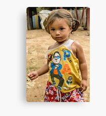 Village Girl Canvas Print