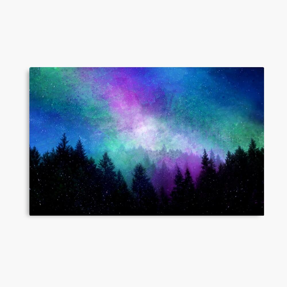 Aurora Borealis Nachthimmel Leinwanddruck