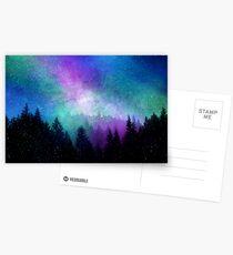Aurora Borealis Nachthimmel Postkarten