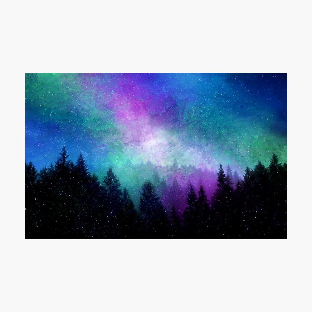 Aurora Borealis Nachthimmel Fotodruck