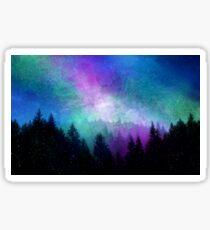 Aurora Borealis Night Sky Sticker
