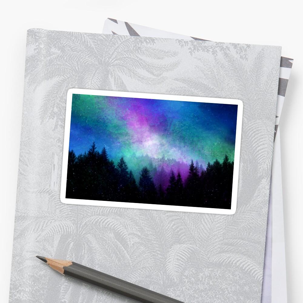 Aurora Borealis Nachthimmel Sticker