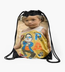 Village Girl Drawstring Bag