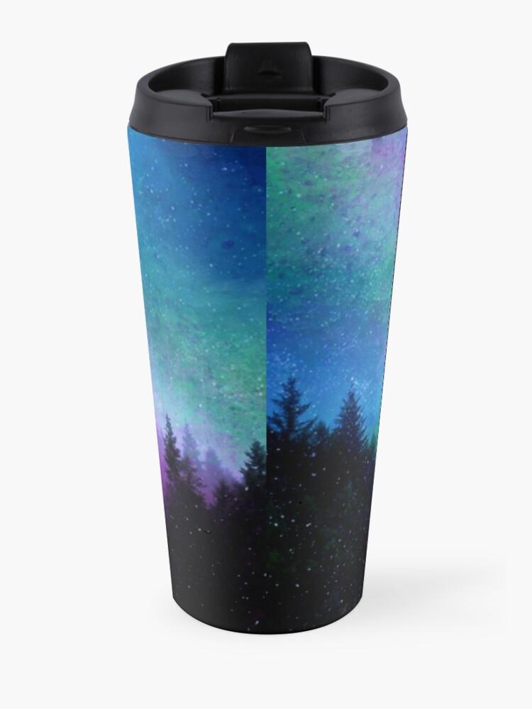 Alternative Ansicht von Aurora Borealis Nachthimmel Thermobecher
