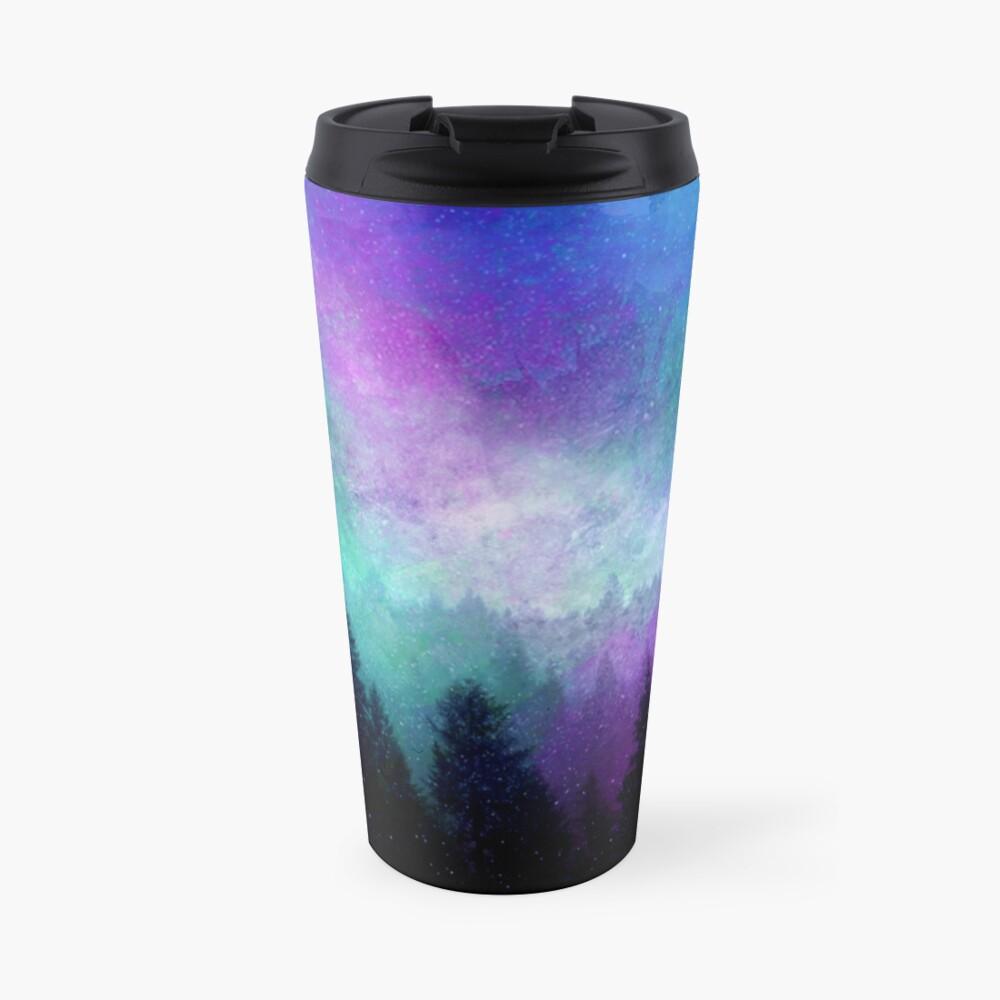 Aurora Borealis Nachthimmel Thermobecher