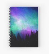 Aurora Borealis Night Sky Spiral Notebook