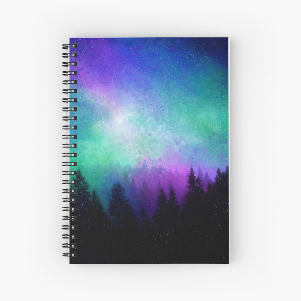 Aurora Borealis Nachthimmel Spiralblock