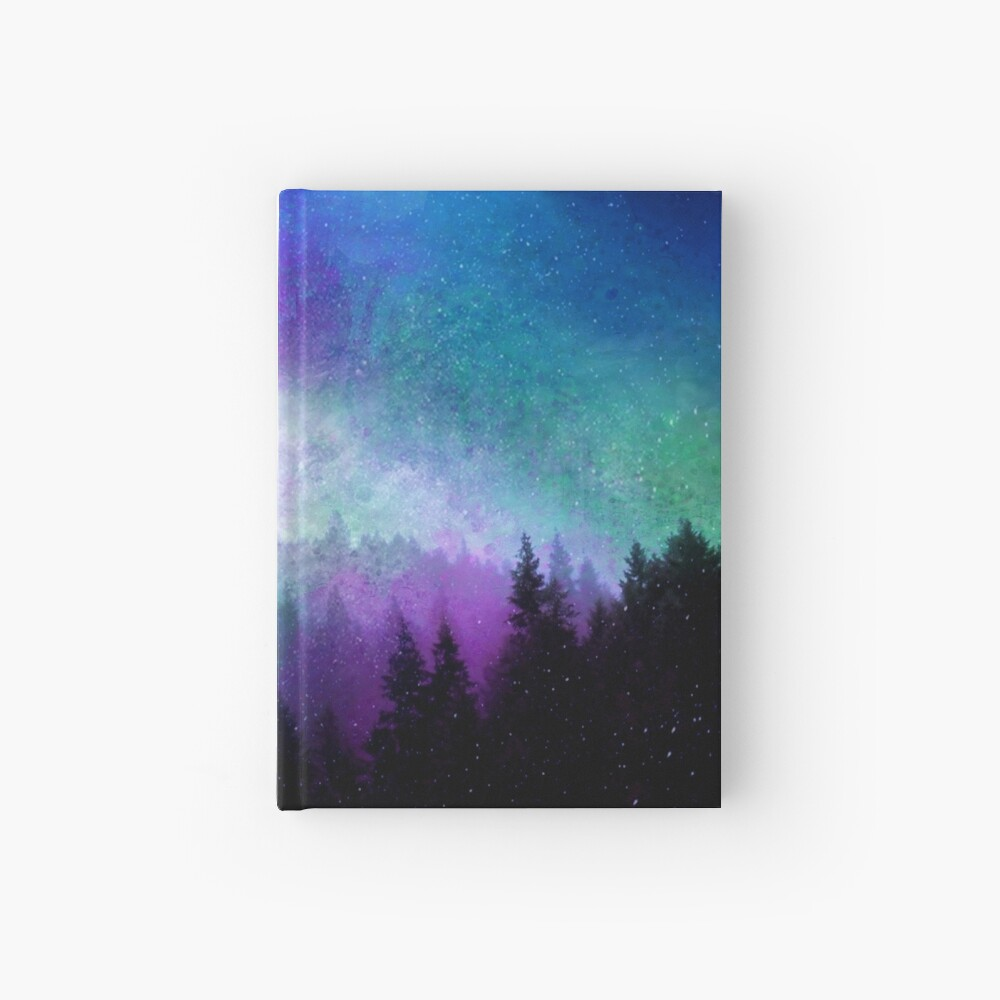Aurora Borealis Night Sky Hardcover Journal