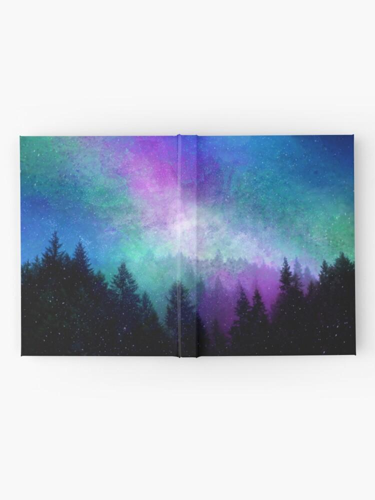 Alternative Ansicht von Aurora Borealis Nachthimmel Notizbuch