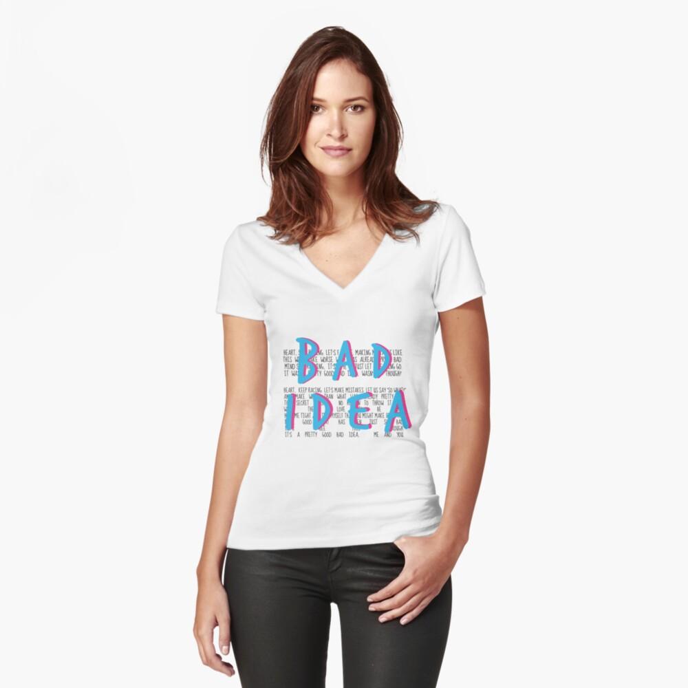 Una mala idea bastante buena, tú y yo Camiseta entallada de cuello en V