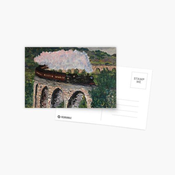 Train à la vapeur sur le pont Carte postale